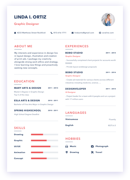 Design your own style, cv simply, cvsimply, design personal resume